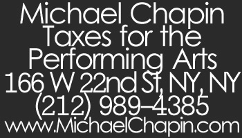 Advertiser: Michael Chapin - Tax Preparation for The Performing Arts